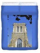 Stone Gothic Church Duvet Cover