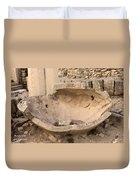 Stone Jar At Temple Of Apollo Duvet Cover