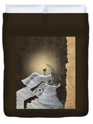 Stone Men 29 - Love Rythm Duvet Cover by Variance Collections