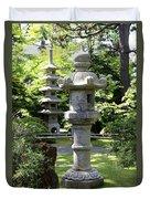 Stone Pagoda And Lantern Duvet Cover