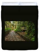 Stone Path Through A Forest Duvet Cover by Jess Kraft