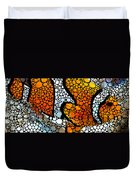 Stone Rock'd Clown Fish By Sharon Cummings Duvet Cover