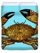 Stone Rock'd Stone Crab By Sharon Cummings Duvet Cover