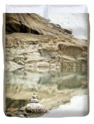 Stone Stack Pool Duvet Cover