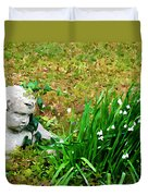 Stone Statue Duvet Cover