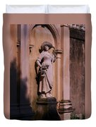 Stone Statue Woman  Duvet Cover