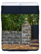 Stone Wall And Gate Duvet Cover