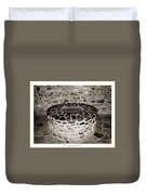 Stone Well At Old Fort Niagara Duvet Cover