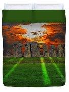 Stonehenge At Solstice Duvet Cover by Skye Ryan-Evans