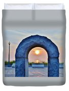 Sunrise Through The Arch - Rehoboth Beach Delaware Duvet Cover