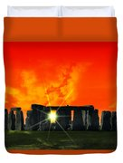 Stonehenge Solstice Duvet Cover