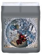 Stones And Fall Leaves Under Water-41 Duvet Cover