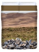 Stones And Sand Duvet Cover