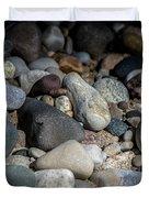Stones On Beach Duvet Cover