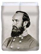 Stonewall Jackson Confederate General Portrait Duvet Cover