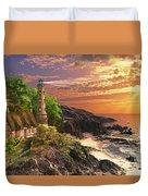 Stoney Cove Lighthouse Duvet Cover