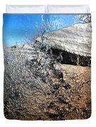 Stony Bush Abstract Duvet Cover