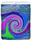 Stool Pie Chart Twirl Tornado Colorful Blue Sparkle Artistic Digital Navinjoshi Artist Created Image Duvet Cover