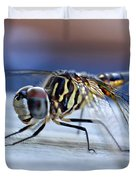 Stop By Tiger Dragon Fly Duvet Cover by Peggy Franz