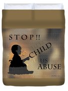 Stop Child Abuse Duvet Cover
