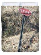 Stop Sign 1 Duvet Cover
