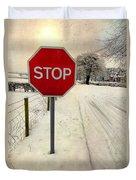 Stop Sign Duvet Cover