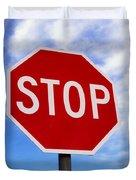 Stop Sign Ireland Duvet Cover