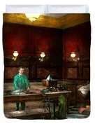 Store - Fish - C Lindenberg Hollieferont Fish Store Berlin Germany 1895 Duvet Cover