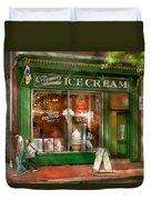 Store Front - Alexandria Va - The Creamery Duvet Cover