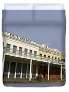 Store Fronts Old Sacramento Duvet Cover