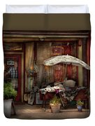 Storefront - Frenchtown Nj - The Boutique Duvet Cover