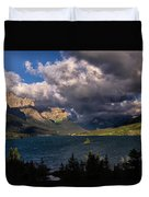 Storm Above St. Mary Lake Duvet Cover