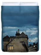 Storm Above Town Duvet Cover