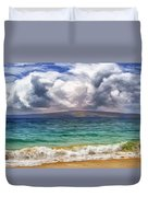 Storm Across The Channel Duvet Cover