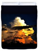 Storm At Dusk Duvet Cover by David Lee Thompson