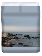 Storm At Sea In Rhode Island Duvet Cover