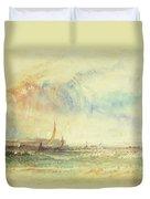 Storm At Sunset, Venice, C.1840 Duvet Cover