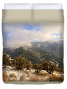 Storm Atop Oquirrhs Duvet Cover by Chad Dutson