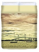 Storm Brewing In Newport Duvet Cover