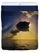 Storm Cloud Over Calm Waters Duvet Cover by John Malone