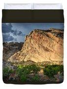 Storm Clouds Above Split Mountain Dinosaur National Monument Duvet Cover