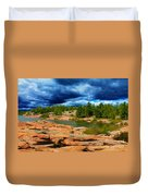 Storm Clouds Approaching Chikanashing Duvet Cover