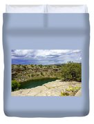 Storm Clouds Over Montezuma Well Duvet Cover