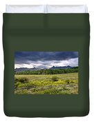 Storm Clouds Over The Rockies Duvet Cover