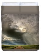 Storm Clouds Prairie Sky Saskatchewan Duvet Cover