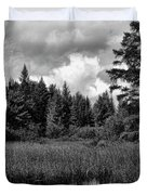 Storm Clouds Rolling In Over The Creek Duvet Cover