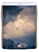 Storm Coming To The Old Farm Duvet Cover