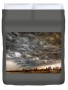 Storm Coulds Over Nyc Duvet Cover