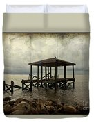 Storm In The Distance Duvet Cover