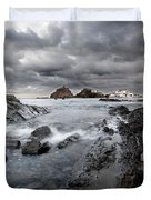 Storm Is Coming To Island Of Menorca From North Coast And Mediterranean Seems Ready To Show Power Duvet Cover